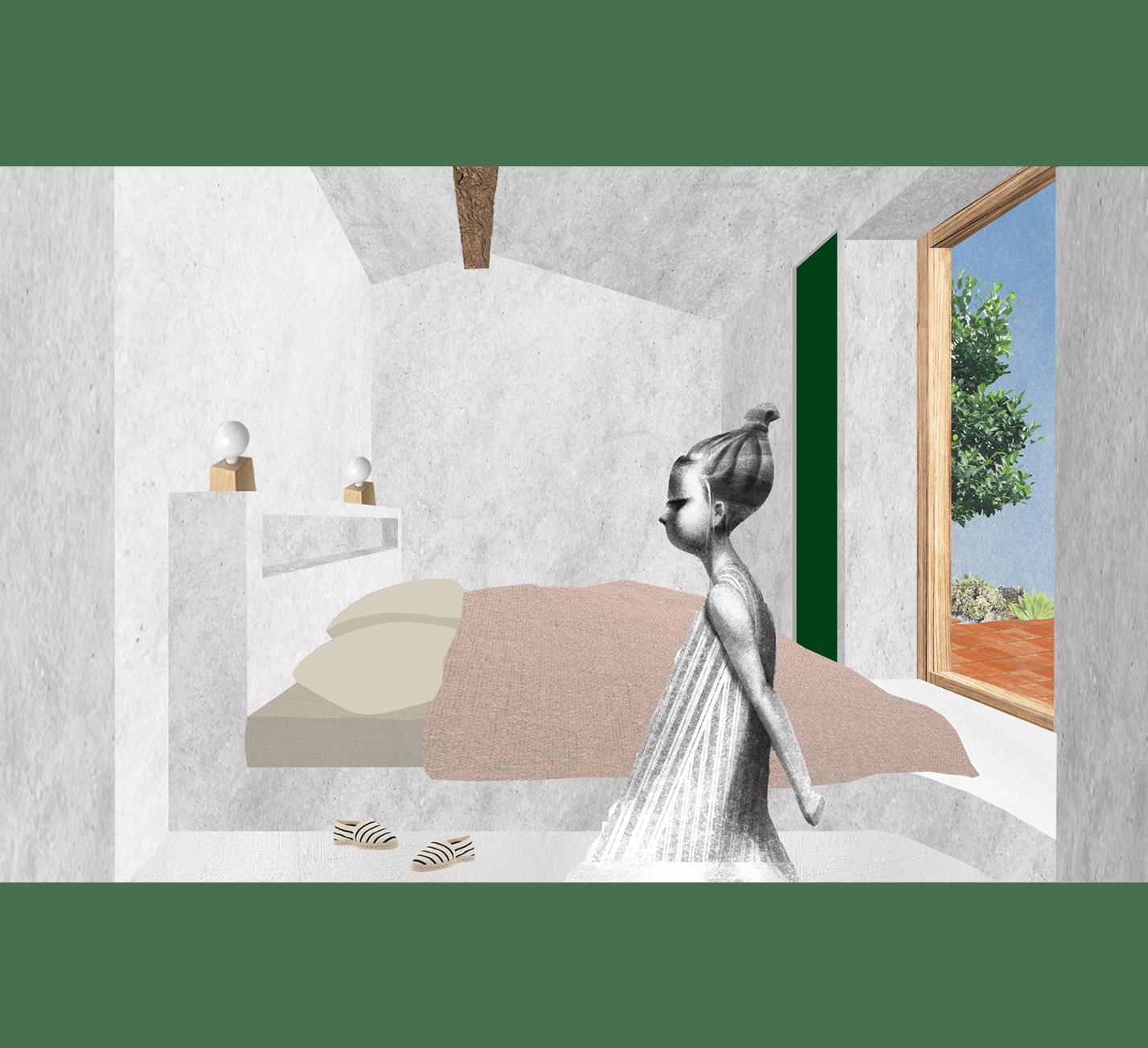 Projet-Bergeries-Atelier-Steve-Pauline-Borgia-Architecte-interieur-Collage-chambre-min